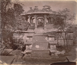 Ruined chhatri or cenotaph, Ahar, near Udaipur